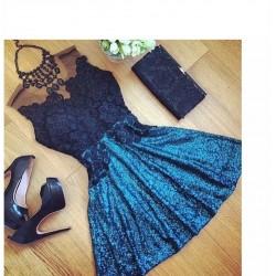 Vestido de Festa Sexy Azul