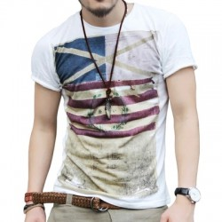 Camiseta Masculina Tops T-shirt Manga Curta 2016