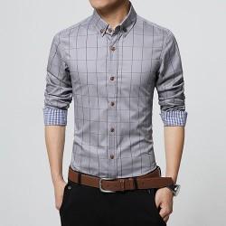 Camisa Social Casual Xadrez Slim Fit