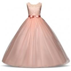 Vestido de Festa Longo Infantil Juvenil Casamento Daminha