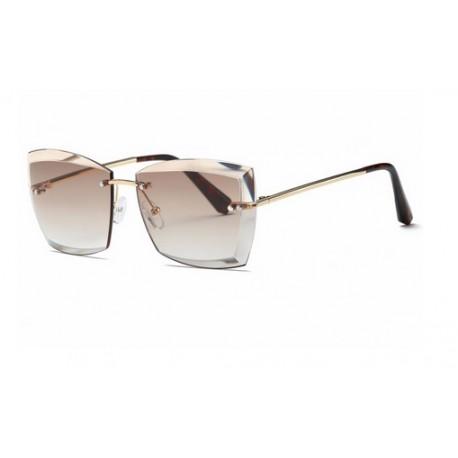 Oculos De Sol Feminino Sem Aro Fashion Proteção Uv