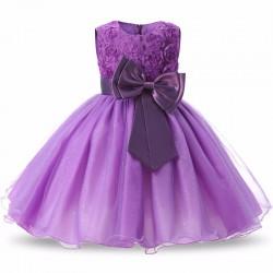 Vestido Infantil Festa Criança Princesa Laço