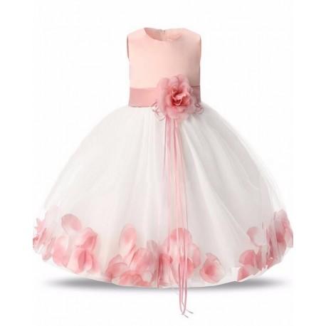 Vestido Infantil Casamento Dama Florista Pétalas