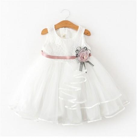 Vestido De Festa Infantil Criança Bebê Princesa Batizado