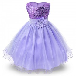 Vestido De Festa Infantil Lilás Princesa Casamento Aniversário